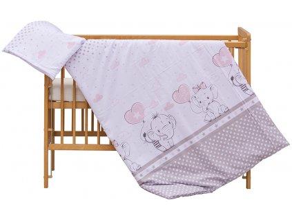 detske povleceni do postylky scarlett gusto 2 dilne 90 x 120 cm ruzova