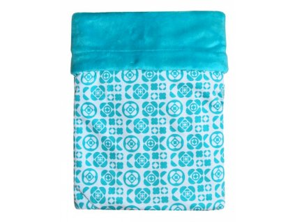 detska deka emitex mimi kytky aqua velvet aqua