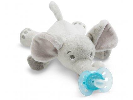 detska plysova hracka se siditkem philips avent ultrasoft +0 mesicu slon