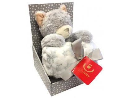 detska deka s plysovou hrackou bobobaby kocka