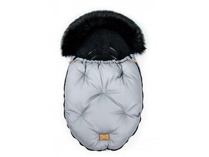 detsky fusak do kocarku floo for baby alaska grey black