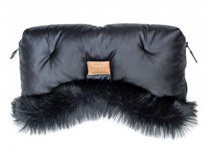 rukavnik na kocarek floo for baby alaska shine black black