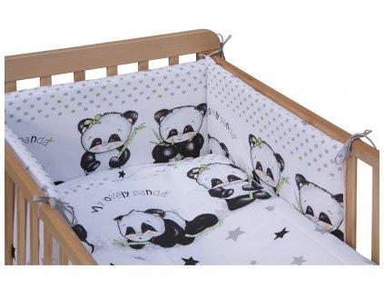 detske povleceni do postylky scarlett panda 6 ti dilne 100 x 135 cm