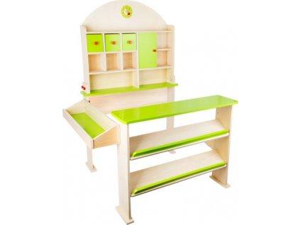 detsky dreveny obchod legler small foot prodejni stanek zelena