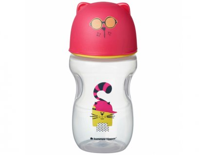 detsky hrnek tommee tippee soft s pitkem 12 mesicu 300 ml pink