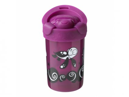 detsky hrnek tommee tippee super cup stabilni s vickem 18 mesicu 300 ml fialova