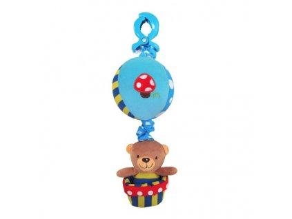 Dětská hračka na kočárek Baby Mix se zvukem Medvěd