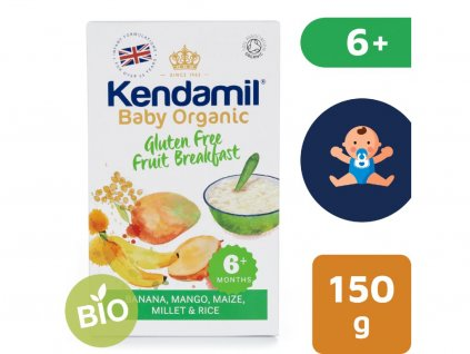 bio organicka detska bezlepkova ovocna kase kendamil 150 g 2