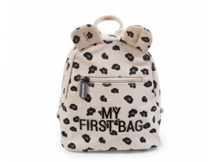 detsky batuzek childhome my first bag canvas leopard