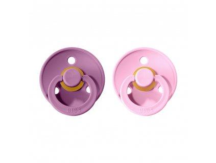 detske siditko bibs colour z prirodniho kaucuku velikost 2 2 kusy lavender baby pink
