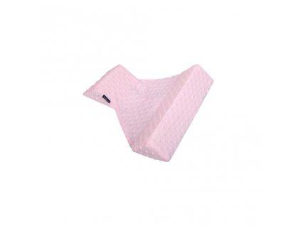 Trojhranná opěrka z Minky Womar růžová