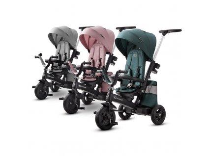 detska trikolka s vodici tyci kinderkraft easytwist 5 v 1 mauvelous pink 5