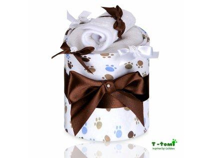Plenkový dort T-Tomi Tlapky bílé-malý