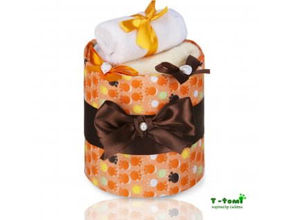 Plenkový dort T-Tomi Tlapky oranžové-malý
