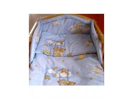 Dětské povlečení do postýlky New Baby Medvídci 2-dílné 90 x 120 cm modré