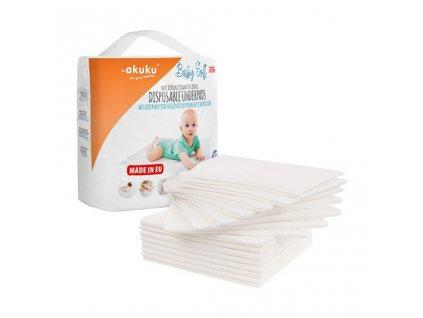 Jednorázové hygienické podložky Akuku Baby Soft 40 x 60 cm 15 ks