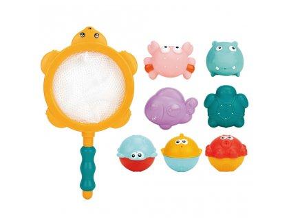 Dětské hračky do koupele 8ks Bayo (poškozený obal)
