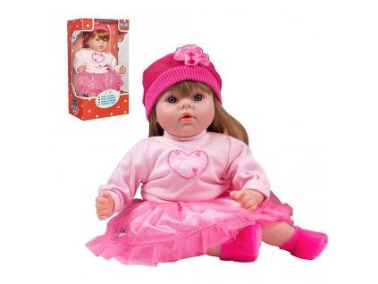Česky mluvící a zpívající dětská panenka PlayTo Tina 46 cm (poškozený obal)