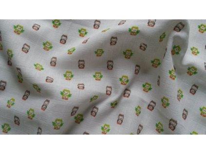 detska plena prem sovicky bavlnena 70 x 70 cm
