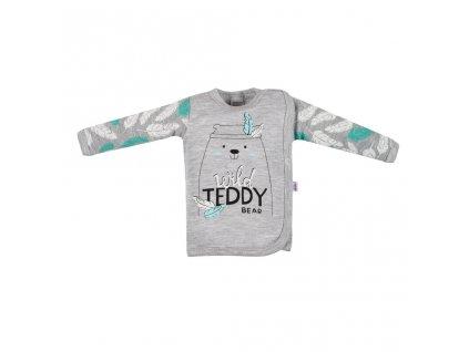 Kojenecká bavlněná košilka New Baby Wild Teddy