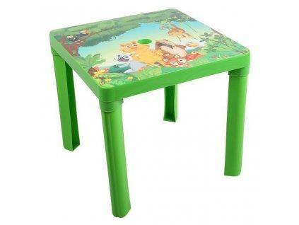 Dětský zahradní nábytek - Plastový stůl zelený