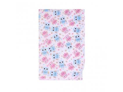 Přebalovací podložka Akuku 55x70 sovy růžovo-modré
