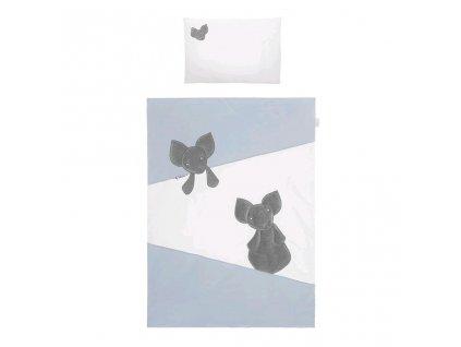 Dětské povlečení do postýlky Belisima Mouse 6-ti dílné 100 x 135 cm modré