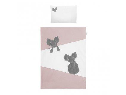 Dětské povlečení do postýlky Belisima Mouse 5-ti dílné 90 x 120 cm růžové
