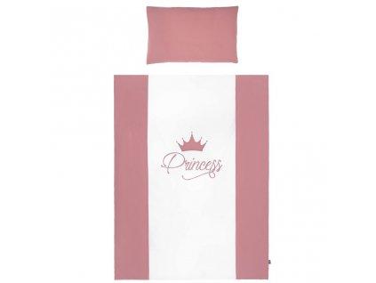 Dětské povlečení do postýlky Belisima Royal Baby 6-ti dílné 90 x 120 cm růžové