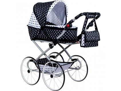 Dětský Retro kočárek pro panenky 2v1 New Baby Natálka