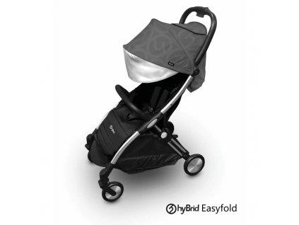 sportovni detsky kocarek babystyle hybrid ezyfold chrome silver charcoal
