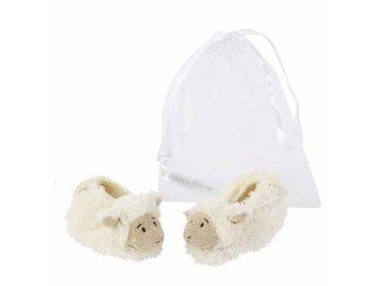 Dětské papučky Happy Horse Ovečka - krémové Velikost: 10 cm