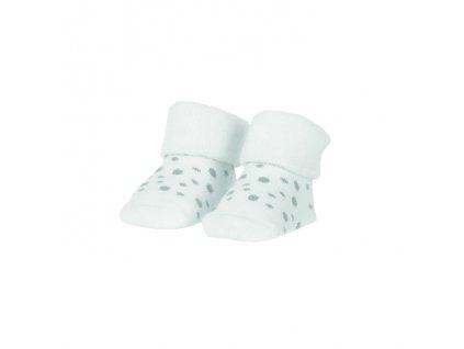 BAMBAM | Ponožky organické sada bílá/puntíky