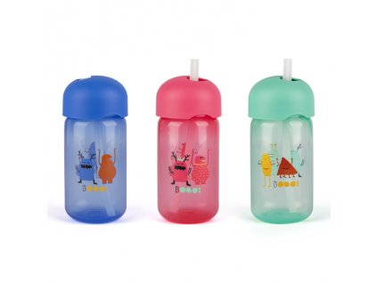 Dětská lahvička s brčkem Suavinex BOOO 340 ml