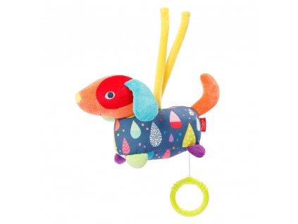 detska hracka na kocarek baby fehn color friends maly hraci pejsek