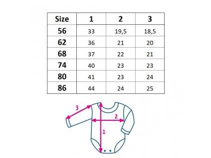 Kojenecké bavlněné body s dlouhým rukávem New Baby Cherry