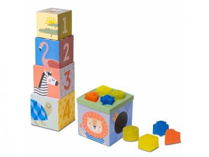 detska hracka sada kostek a tvaru taf toys savana