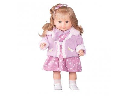 Luxusní mluvící dětská panenka-holčička Berbesa Kristýna 52 cm