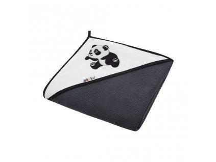 Dětská osuška 100x100 Akuku černá s pandou