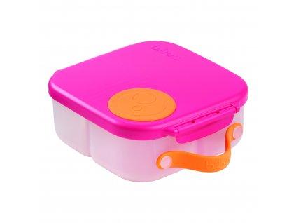 stredni detsky svacinovy box b box ruzova oranzova 3