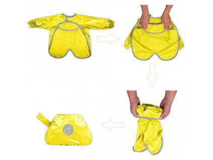 detsky bryndacek s rukavy b box zluta 2
