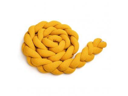 pleteny mantinel do postylky t tomi 220 cm mustard dots