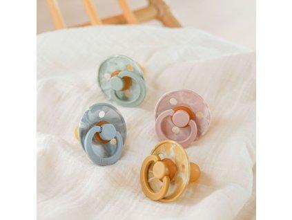 detske siditko bibs colour tie dye z prirodniho kaucuku velikost 1 2 kusy blush 3