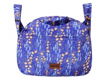 taska na kocarek emitex emmik kvetinky modra
