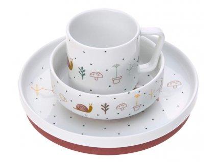 sada nadobi lassig dish set porcelain garden explorer girls