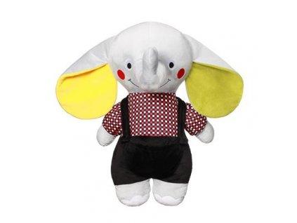 detska plysova hracka babyono s chrastitkem tata slon andy