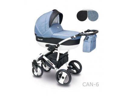 Dětský kočárek Camarelo Carera New modro černý
