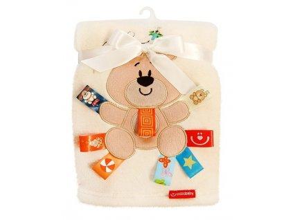 Dětská deka Bobobaby 3D elementy 76 x 102 cm