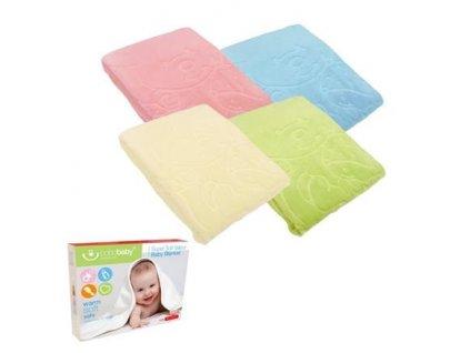 detska spanelska deka bobobaby super soft 80 x 110 cm ruzova