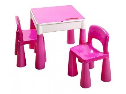 Dětský stoleček a židličky Tega Mamut-růžová